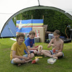 kids having camping fun