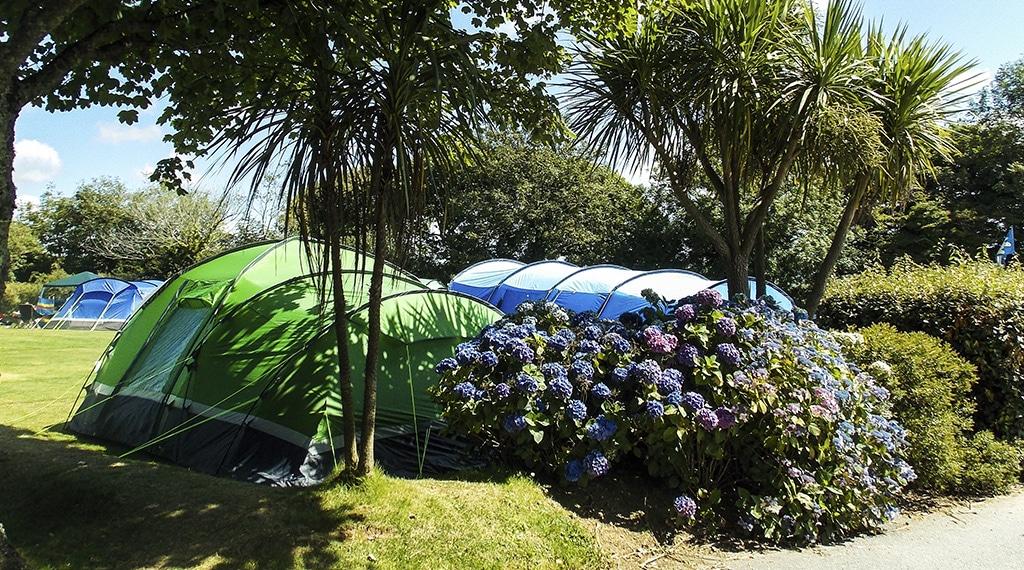 Camping at Hendra Holiday Park, Newquay Cornwall