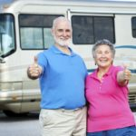 couples motorhome holiday