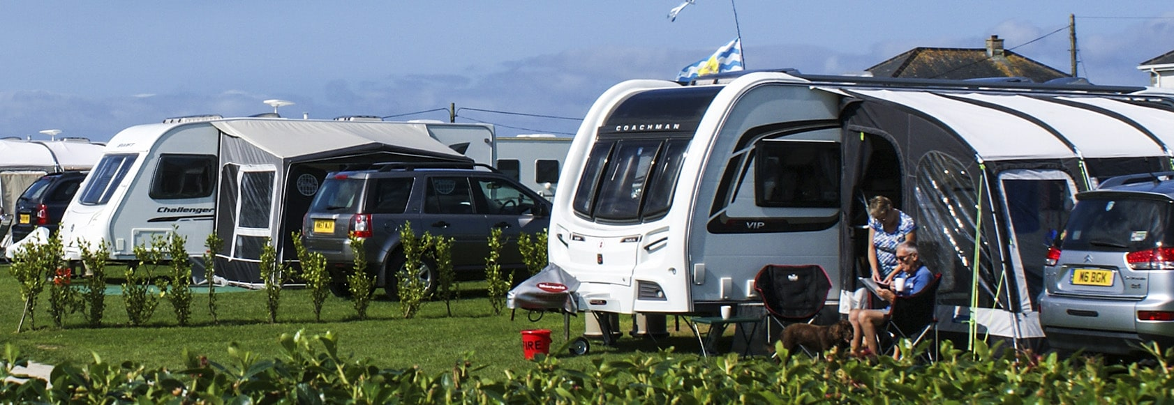 Touring Caravan at Hendra in Newquay Cornwall