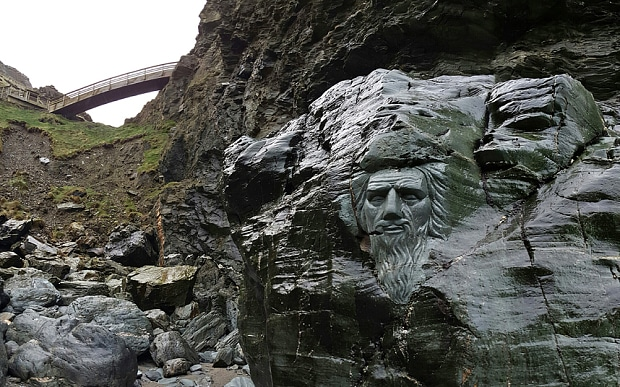 Tintagel Castle, Merlin's Cave, Cornwall