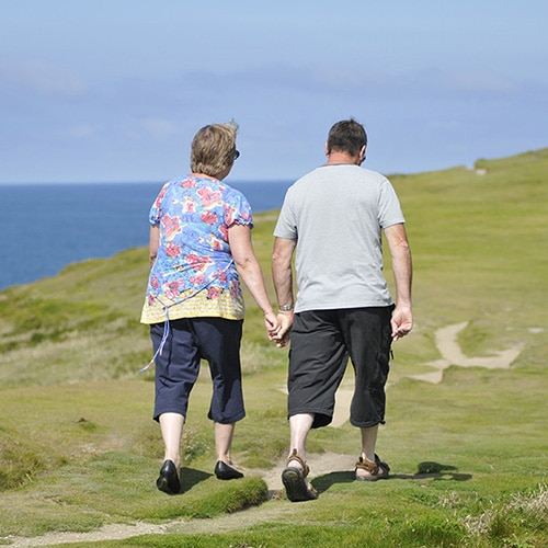 Over 55s holidays in Cornwall