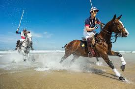 Polo on the beach, Newquay