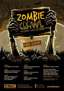 Zombie Crawl Newquay, BID Newquay, October