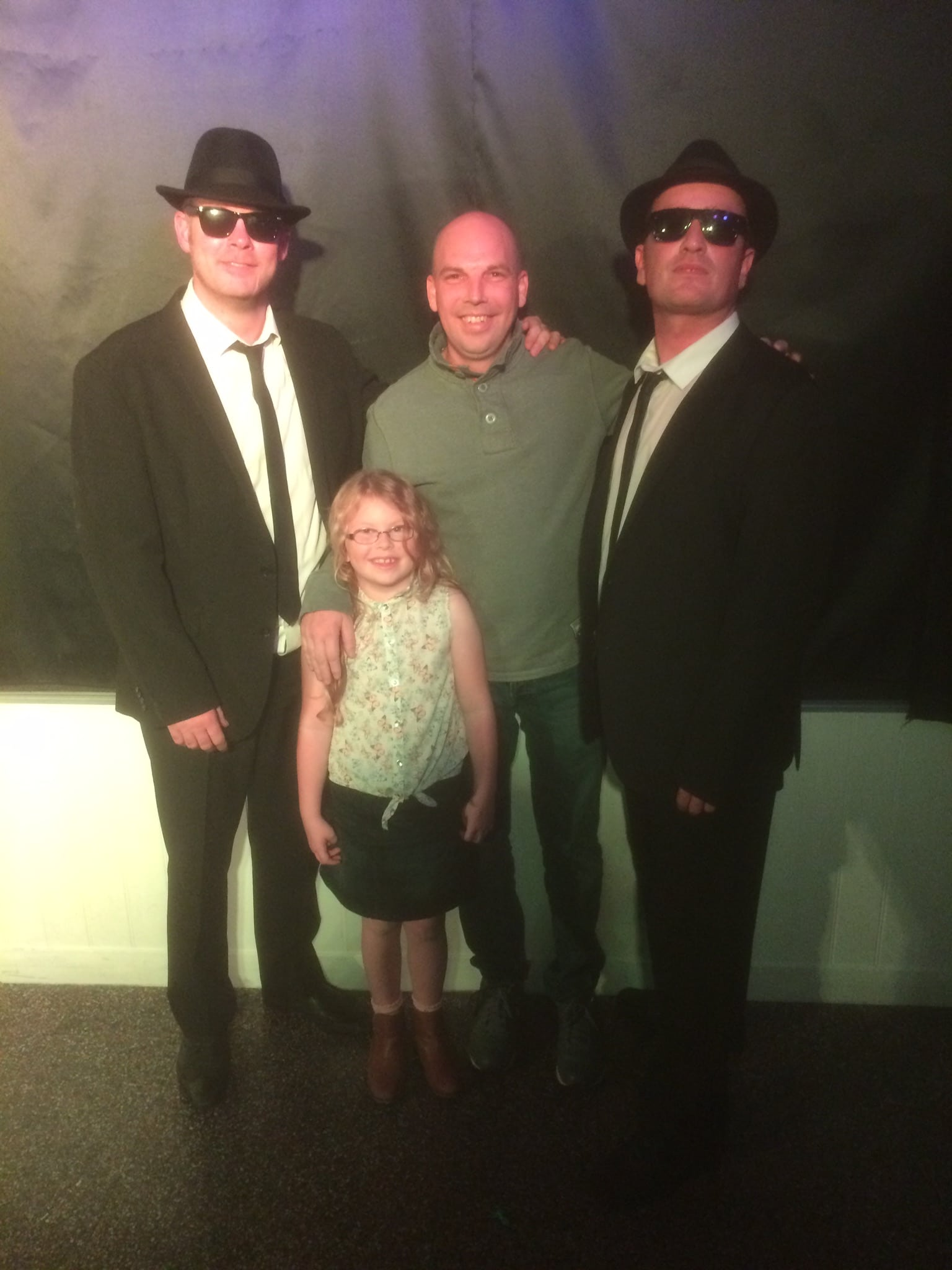 With blues brothers tribute act