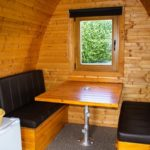 Seating area Pod Premium at Hendra Holiday Park