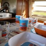 The Vans are fully equipped with cutlery and crockery