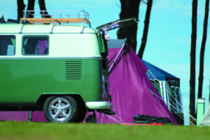 Camper van at Hendra Holiday Park, Newquay, Cornwall