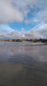 Towan Beach in autumn - autumn walks in cornwall