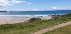 Fistral beach is home to Boardmasters